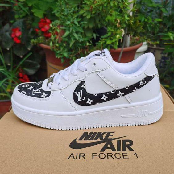 Image of Nike x Louis Vuitton LV Air Force No. 1 Fashion men and women low-top casual sneakers Shoes  3