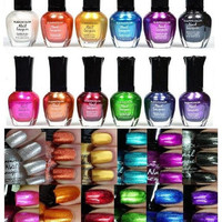 Mighty Gadget - Kleancolor Nail Polish - Awesome Metallic Full Size Lacquer Lot of 12-pc Set ... = 1946592644