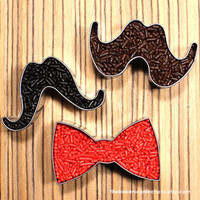Mustache Cookie Cutter Set with 2 Mustache by thebakersconfections