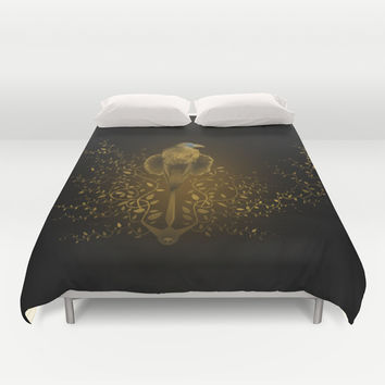 Tribute to Game of Thrones (V2 Gold) Duvet Cover by LilaVert | Society6