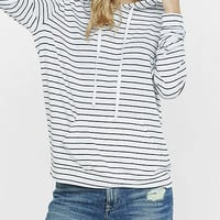 Striped Express One Eleven Hoodie from EXPRESS