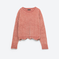 CROPPED ROUND NECK SWEATERDETAILS