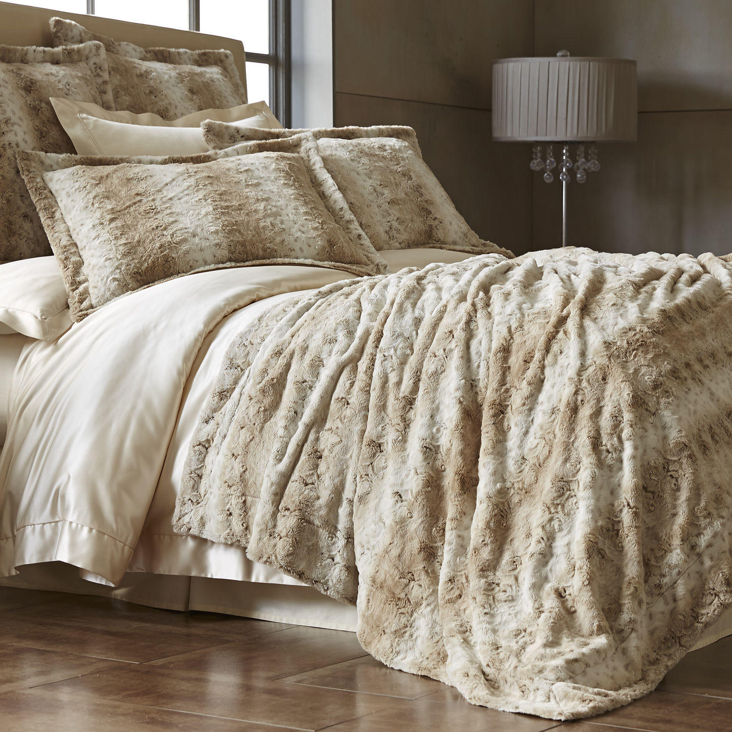 Snow Leopard Fuzzy Blanket Amp Shams From Pier 1 Imports