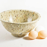 Vintage Confetti Speckled Texas Ware Mixing Bowl, Tan Melmac Melamine Serving or Batter Bowl