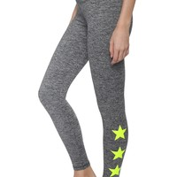 Strut This Star Ankle Legging - Neon