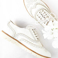 Addie Lace Up Flats