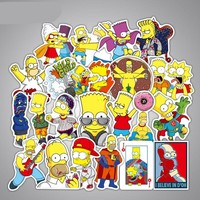 50pcs The Simpsons Stickers Set Planner Journal 2018 New The Simpsons Adesivo Pegatinas Gudetama Laptop stickers on laptop Moto