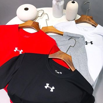 Under Armour New fashion letter print couple top t-shirt