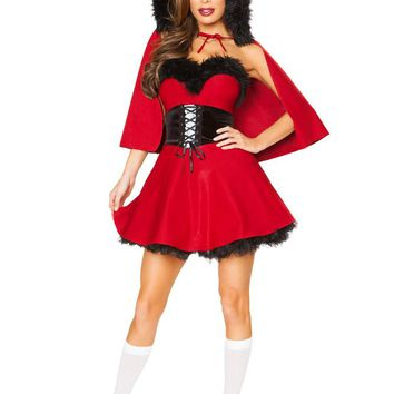 Roma Costume Adult Women Halloween Little Red Damsel - Large