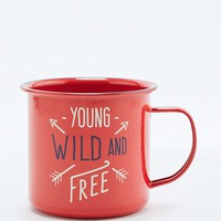 Wild & Wolf Young Wild & Free Mug - Urban Outfitters