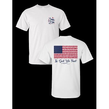 Sassy Frass In God We Trust USA American Flag Comfort Colors Bright T Shirt