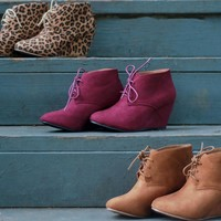 Fashion Online Wedge Oxfords | Camel | Shoes | Fall