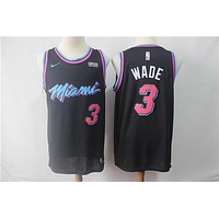 Miami Heat 3 Dwyane Wade City Edition Black Jersey