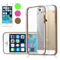 iPhone 5S Case, Pandamimi ULAK® Clear Hard Case For Apple iPhone 5S 5 (Gold)