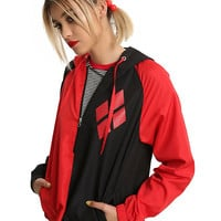 DC Comics Harley Quinn Cosplay Girls Windbreaker