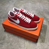 """Nike Blazer"" Men Retro Casual Fashion Anti-fur Low Help Plate Shoes Sneakers"