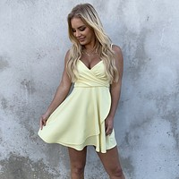 Sweet Escape Yellow Skater Dress