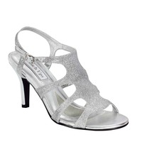 Touch Ups Touch Ups Women's Aphrodite Glitter Sandals Prom shoe Silver