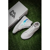 Vans REVENGE x STORM  High white leather casual shoes