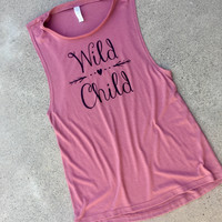 """Wild Child"" Women's Muscle Tank"