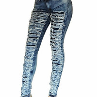 Hot Mess Mid-Rise Destroyed Jeans