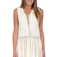 Nude Lace Up Dress from Indah at Blush Boutique Miami - ShopBlush.com : Blush Boutique Miami – ShopBlush.com