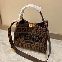 FENDI FF Medium Shopper Shoulder Bag