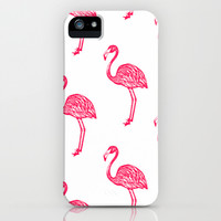 American Flamingo (pink) iPhone & iPod Case by The Wallpaper Files