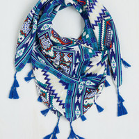 Boho Clever With Color Circle Scarf by ModCloth