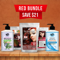 Henna Hair Dye - Red Bundle with Shampoo & Conditioner
