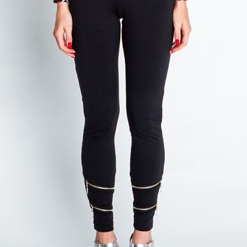 Zipper Leggings