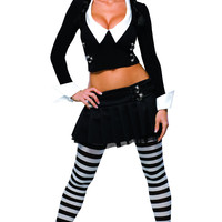 Womens Addams Family Wednesday Addams Costume