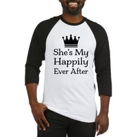 Happily Ever After Mens Baseball Jersey> Happily Ever After Mens T-shirts> Couple Shirts and Relationship Gifts