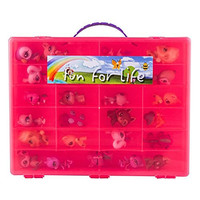 Littlest Pet Shop Compatible Organizer Strawberry/Pink - Fun for LifeTM is Pefect Compatible Storage Case for LPS- Fits up to 60 Characters