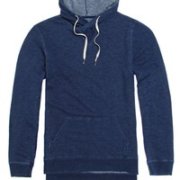 Modern Amusement Bleach Out Hooded Shirt - Mens Shirt - Blue