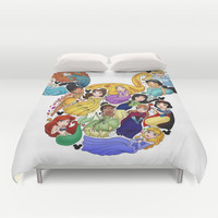 Princess Mickey Ears Duvet Cover by Katie Simpson