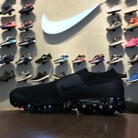 CDG X Nike Air VaporMax Moc Flyknit Laceless AH3397-004 Sport Running Shoes - Sale