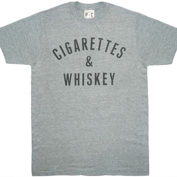 justanother.co.uk. PalmerCash Clothing: PalmerCash Cigarettes and Whisky t-shirt tee shirt in heather grey