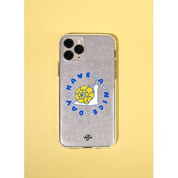 Have A Nice Day Glitter Phone Case