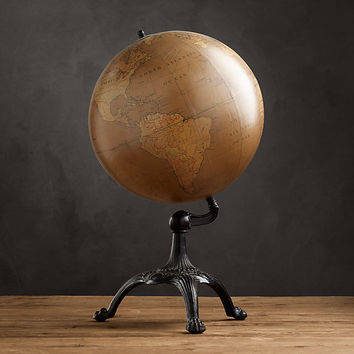 Antique English Library Globe