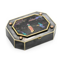 FD Gallery | An Art Deco Gold, Silver and Lacquer Chinoiserie Box, by Cartier, circa 1920