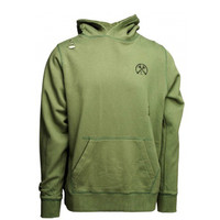 Civil - Pigment Dye Distress French Terry Pullover - Olive