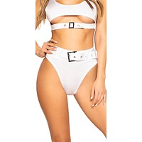 Sexy R4V3 High-Waisted Belted Shorts