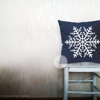 Snowflake pillows decorative throw pillows winter pillows holiday throw pillows Christmas pillows snowflake pillows 12x18 inches pillows
