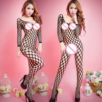 Sexy Lingerie hot see-through body stocking Sexy costumes Adult Sexy Woman Fishnet pajamas Clothes Intimate wway ##XL-066