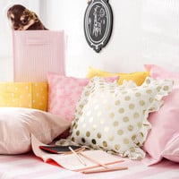 Frilled cushion cover
