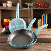 The Pioneer Woman Butterfly 3-Piece Non-Stick Fry Pan Set with Butterfly Logo - Walmart.com