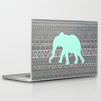 Mint Elephant Laptop & iPad Skin by Sunkissed Laughter