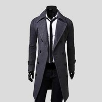 Men Winter Jacket Peacoat manteau homme High Quality Fashion New Brand Mens Winter Trench Coats Overcoats Duffle Coat H6973
