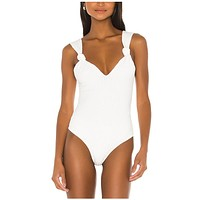 fhotwinter19 Explosive Women's Fashion Hang Strip Solid Color Sexy One-piece